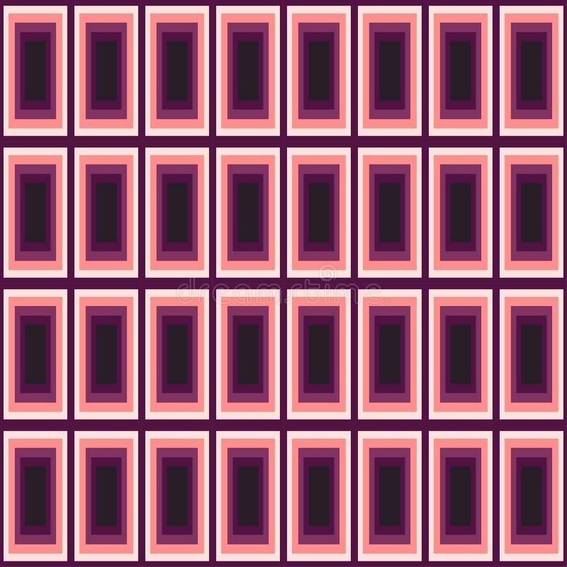Rectángulos de colores rosados y violetas ilustración del vector