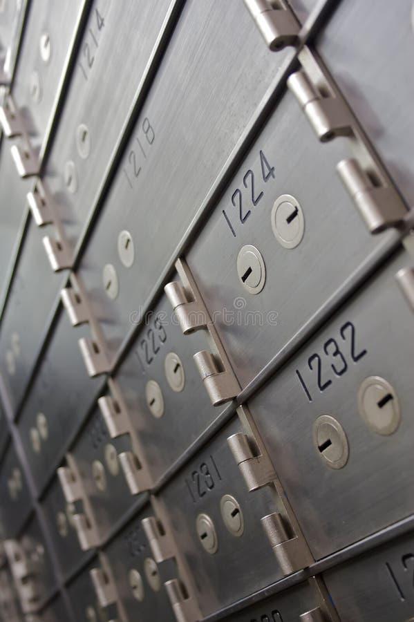 Rectángulos de depósito de seguridad foto de archivo libre de regalías