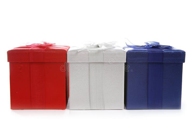 Cajas de regalo imagen de archivo libre de regalías