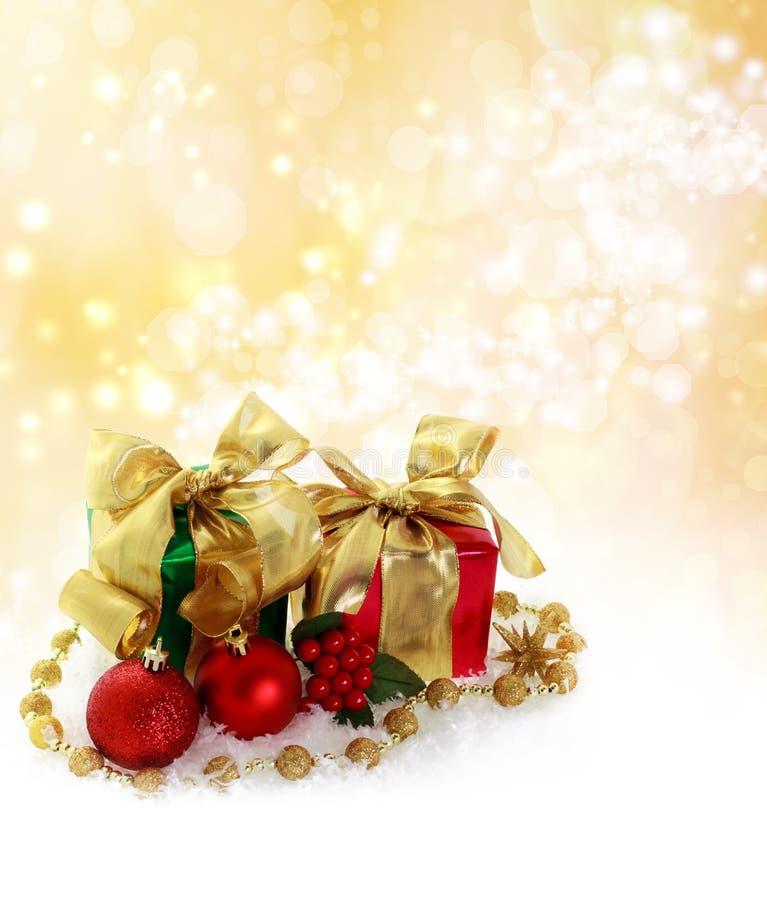 Rectángulos de regalo de la Navidad fotos de archivo