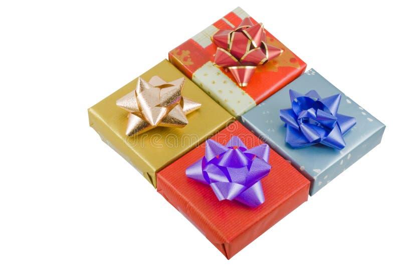 Rectángulos de regalo envueltos foto de archivo libre de regalías