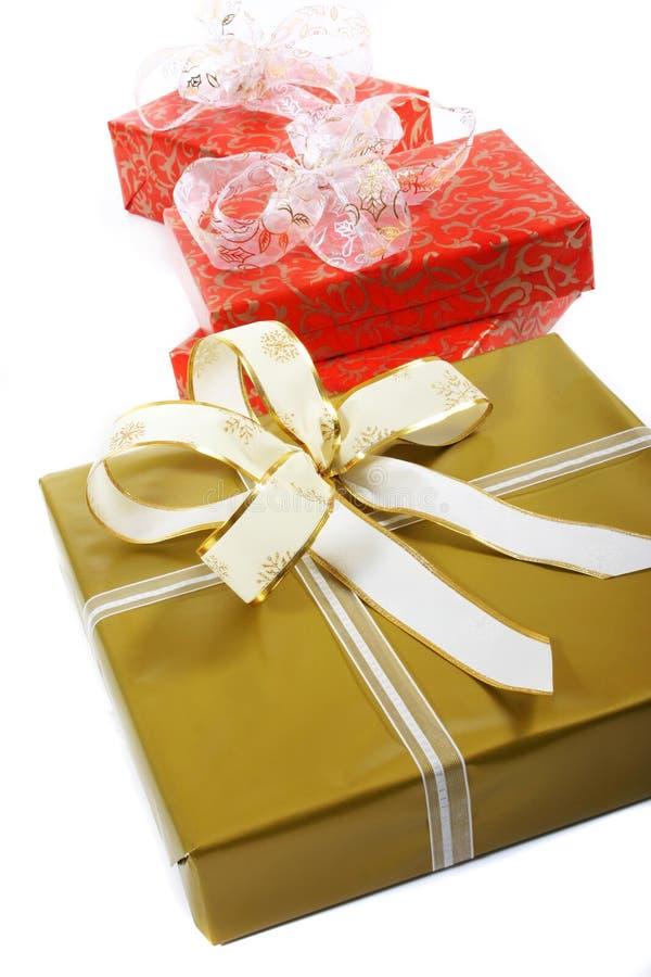 Cajas de regalos foto de archivo