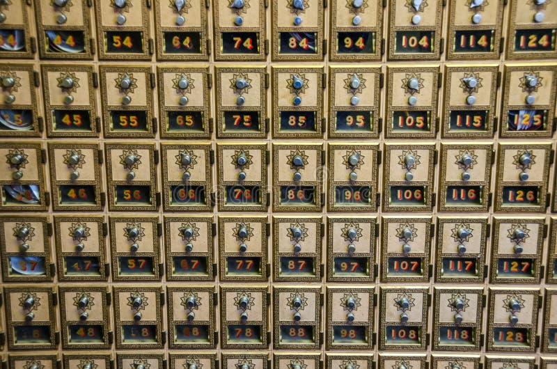 Rectángulos del bloqueo de combinación de la oficina de correos fotografía de archivo