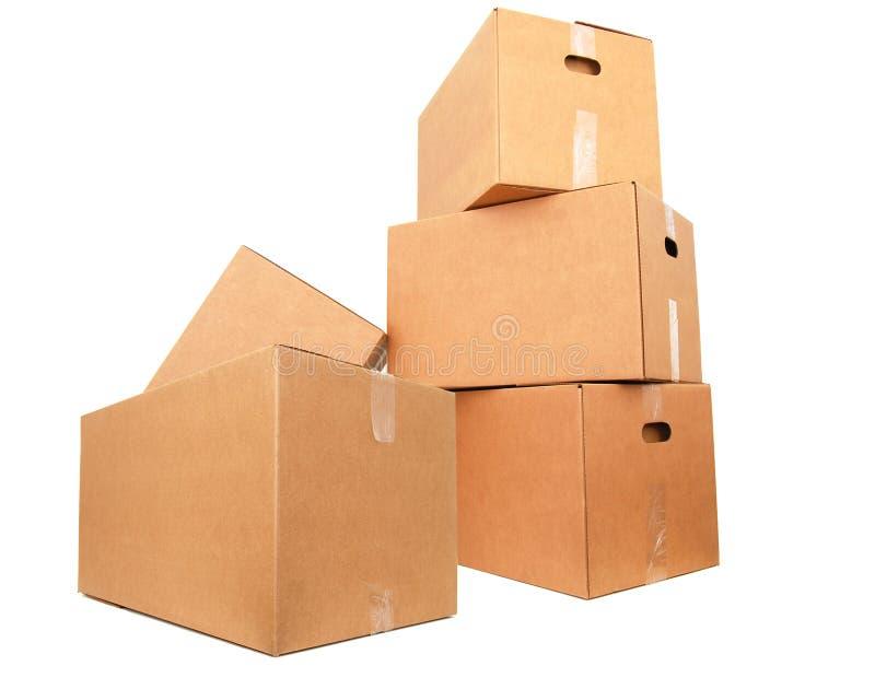 Rectángulos del cartón imágenes de archivo libres de regalías