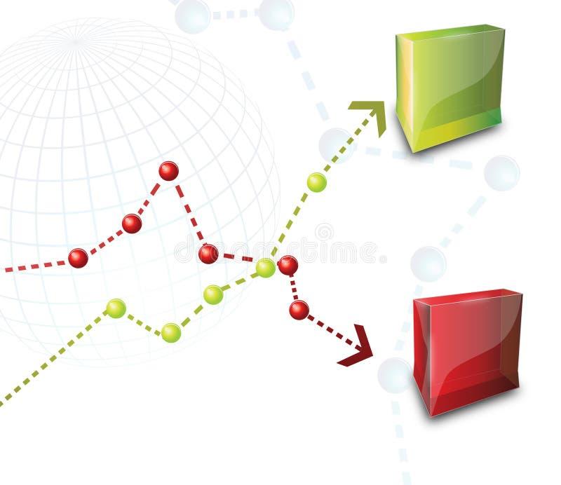 Rectángulos del producto ilustración del vector