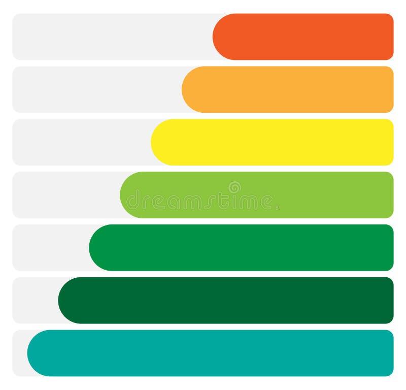 Rectángulos, infochart de las barras, presentación o te horizontal de la bandera libre illustration
