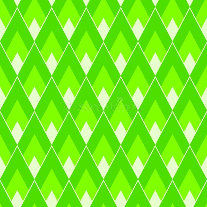 Rectángulos o modelo inconsútil de los rombos en color de neón de moda de la cal ilustración del vector