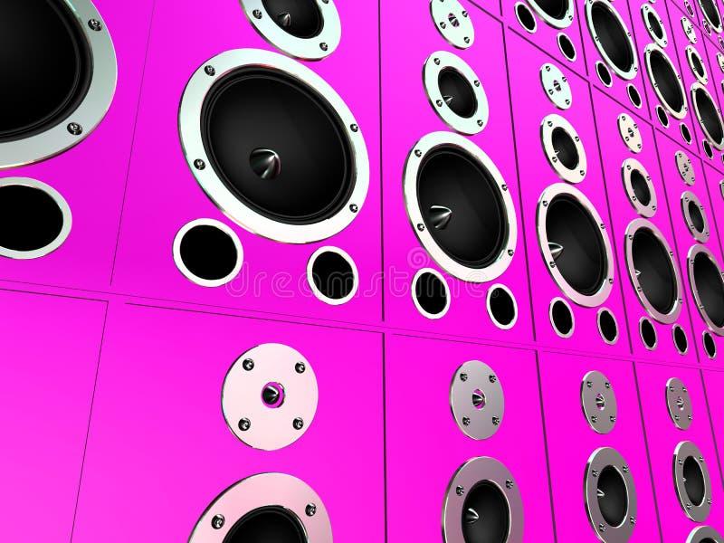 Rectángulos rosados ilustración del vector