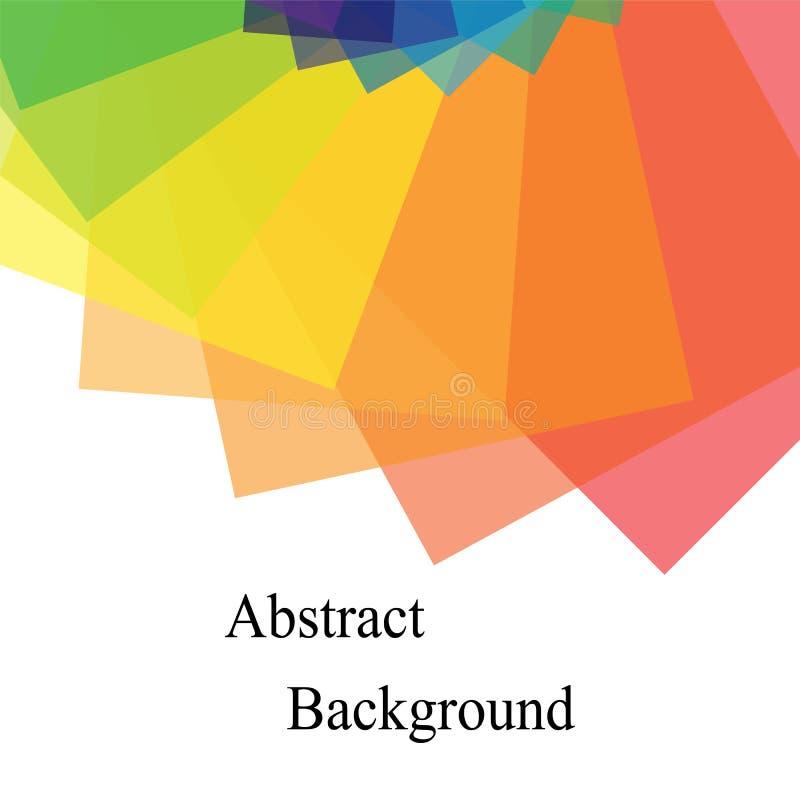 Rectángulos traslapados transparentes coloreados arco iris Plantilla para las etiquetas, aviadores, banderas, insignias, carteles libre illustration