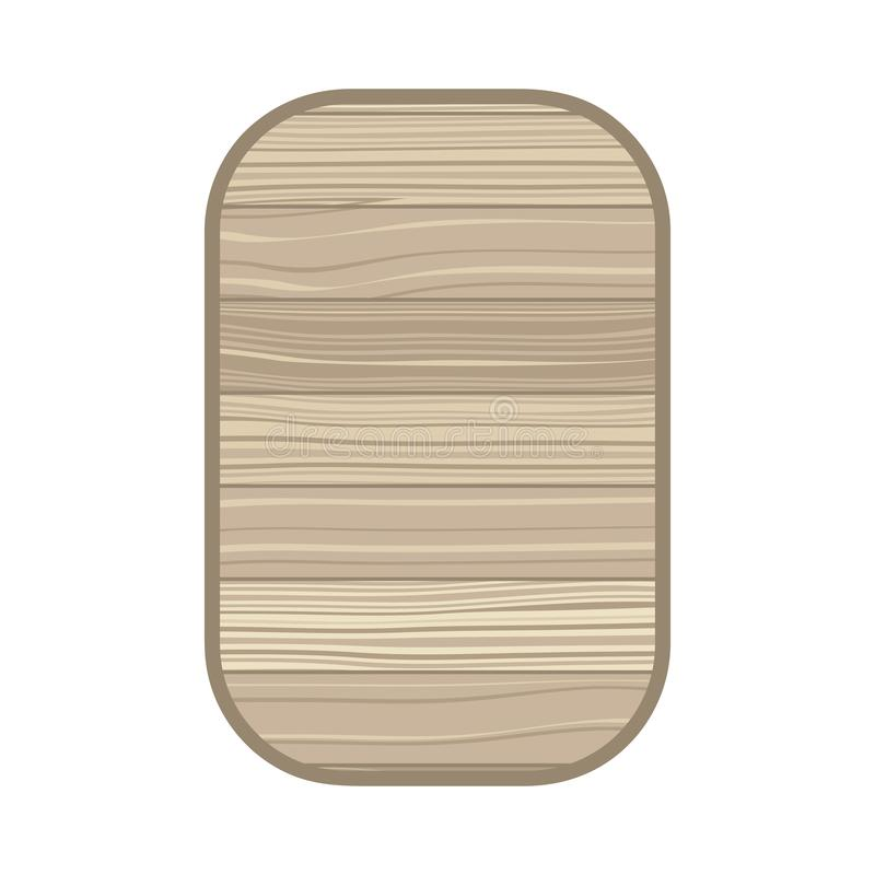 Rectangle avec l'icône d'isolement par texture en bois illustration libre de droits
