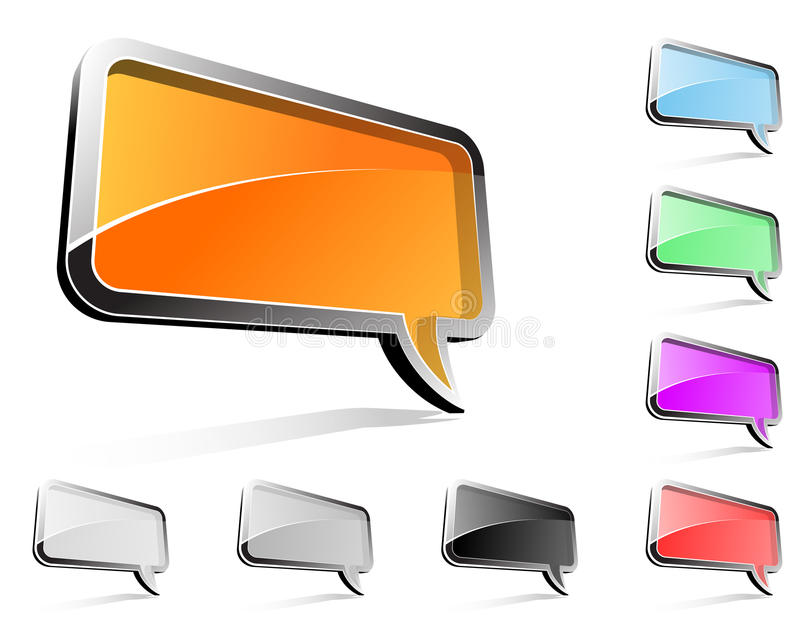 Download Rectangle Balloon Conversation Royalty Free Stock Photo - Image: 14567705