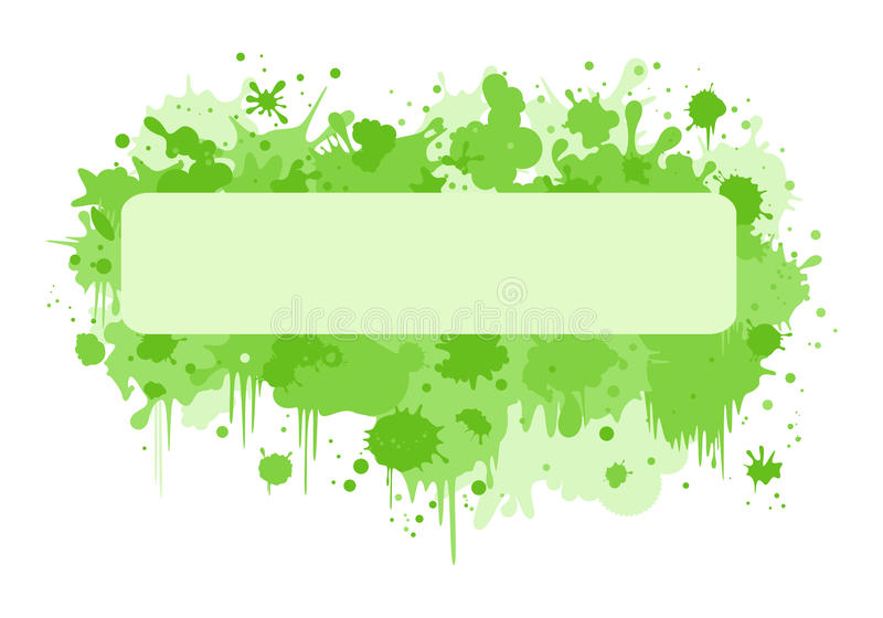 Download Rectangle Banner With Green Blurs Stock Vector - Image: 14665817