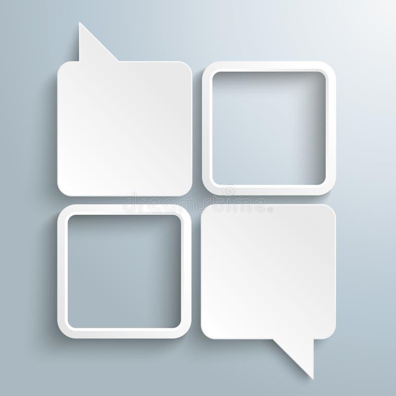 4 rectangle blanc Speechbubbles 2 cadres illustration libre de droits