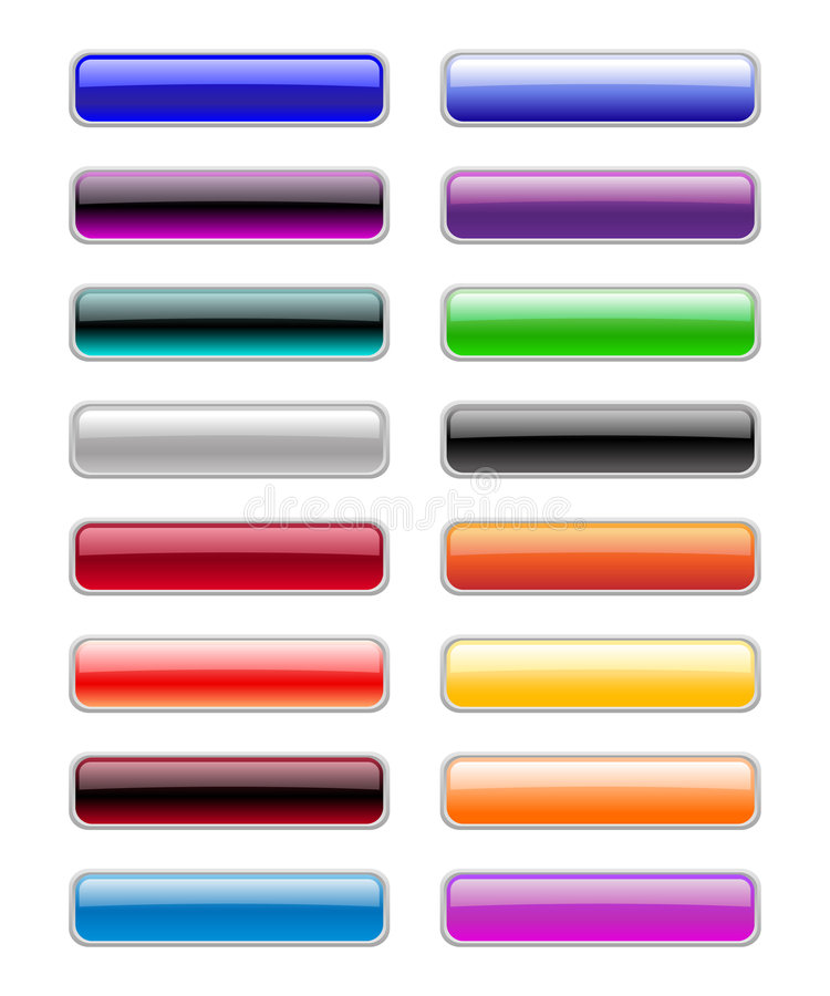 Rectangle buttons stock illustration