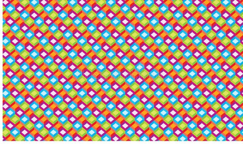 Rectangle de fond polychrome illustration libre de droits