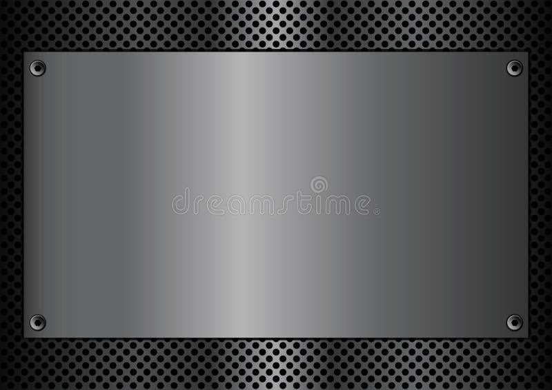 Rectangle de plaque en métal illustration libre de droits
