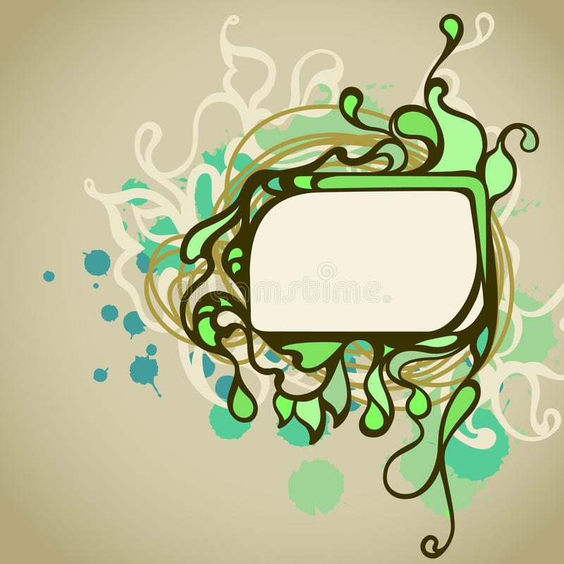 Rectangle Doodle Frame Stock Photo