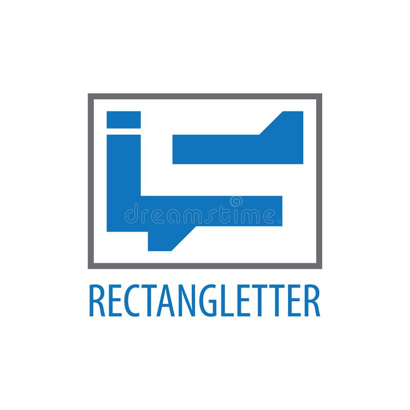 Rectangle initial letter IS logo concept design. Symbol graphic template element royalty free illustration