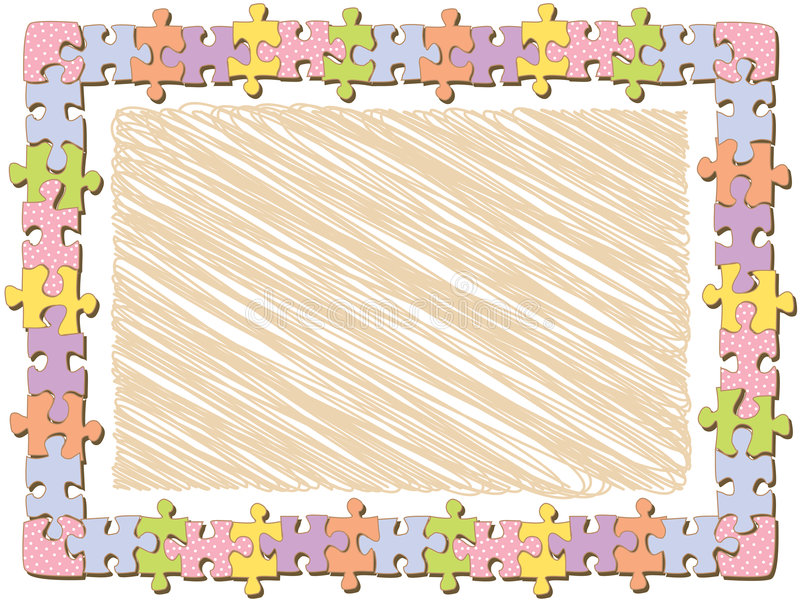Download Rectangle Jigsaw Frame With Dots Royalty Free Stock Image - Image: 4640026