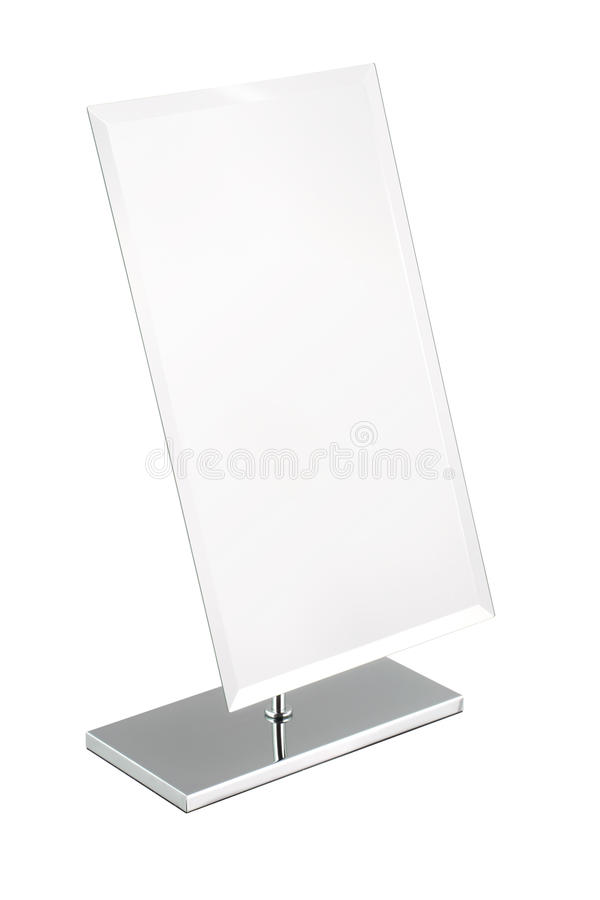 Rectangle mirror with pure white background stock photography