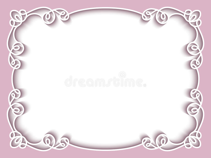 Rectangle Paper Frame, Greeting Card Template Stock Vector - Image ...