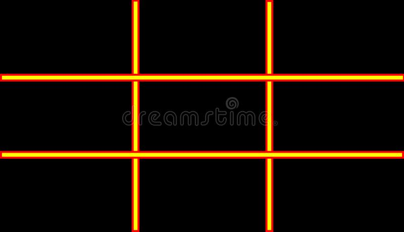 Rectangle pattern on black background royalty free stock photography