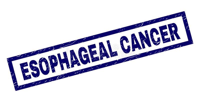 Rectangle Scratched ESOPHAGEAL CANCER Stamp stock illustration