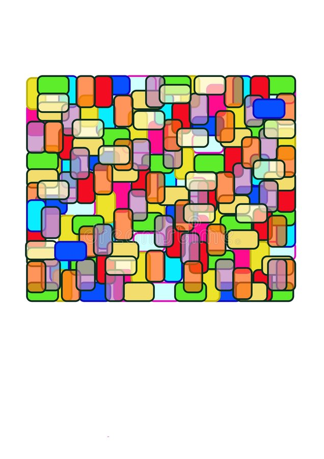 Download Rectangle - Stain Glass stock vector. Image of stain, simple - 1410414