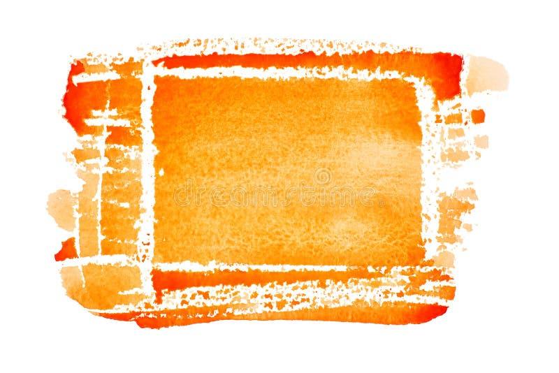 Rectangle tiré par la main orange illustration stock