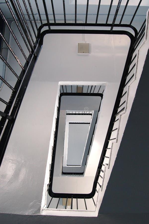rectangler螺旋台阶 库存照片