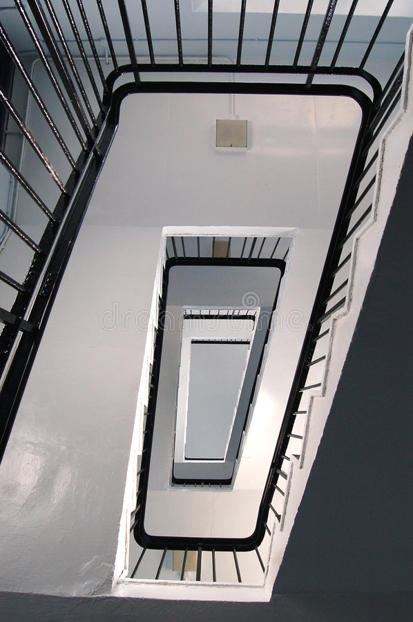 Download Rectangler Spiral Stairs stock image. Image of abstract - 485313
