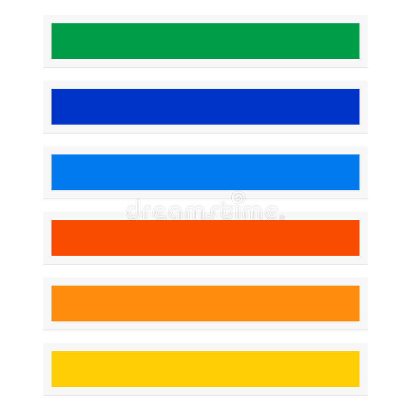 Rectangles de bouton/bannière avec la combinaison de couleurs navigation illustration de vecteur