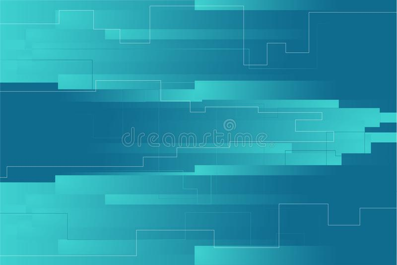 Rectangles geometric background. Landing page composition. Light blue and dark blue compostition. Background to webpage or landing page. Simple geometric vector illustration
