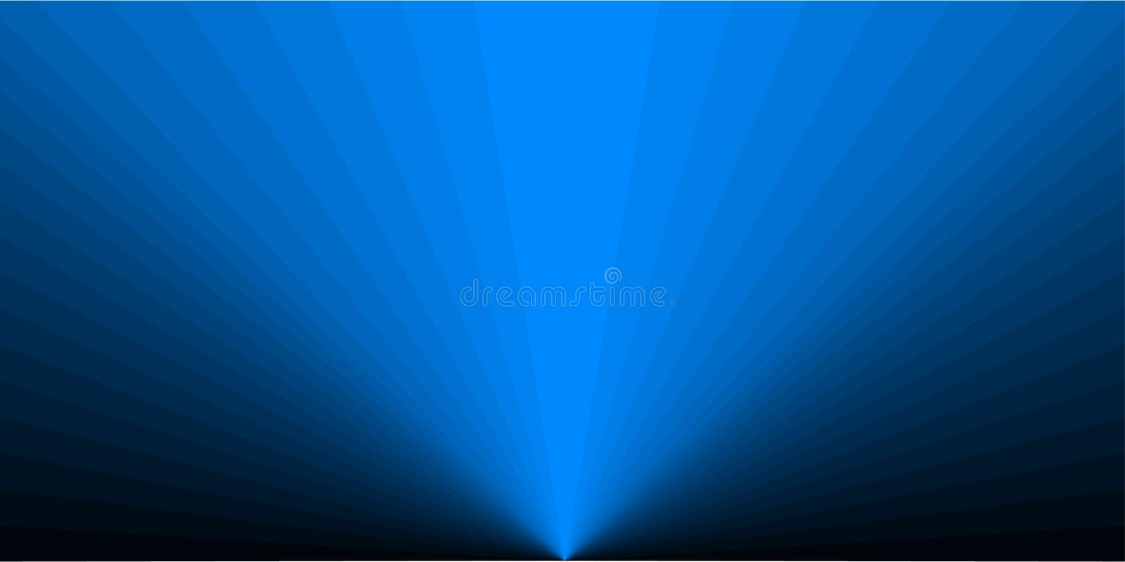 Rectangular background in the form of blue rays royalty free illustration