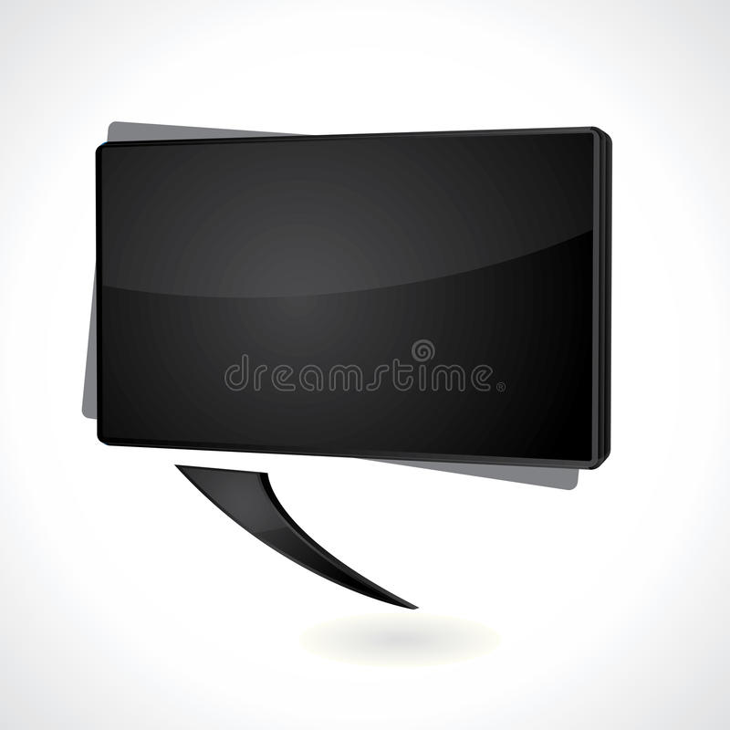 Download Rectangular Black Speech Bubble Royalty Free Stock Photography - Image: 18766617