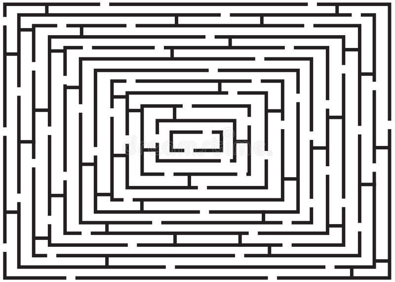 Download Rectangular Black And White Labyrinth Stock Illustration - Image: 14683890