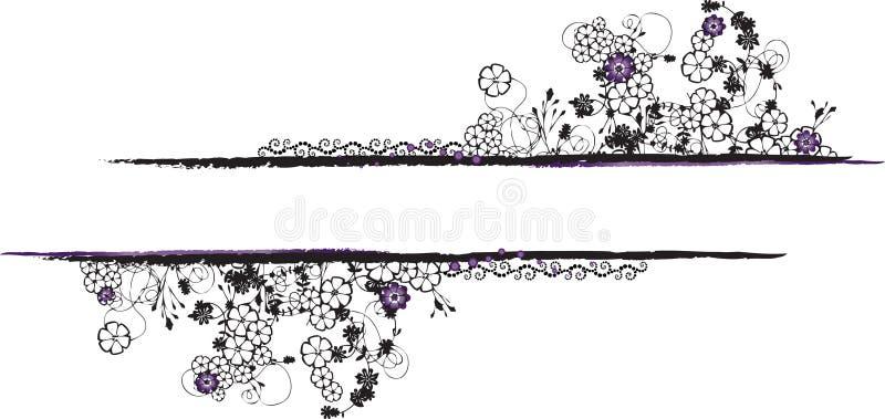 Rectangular Black and White Ornamental Frame vector illustration