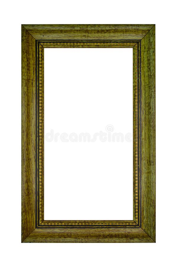 Rectangular and brown hollow wood frame royalty free stock image