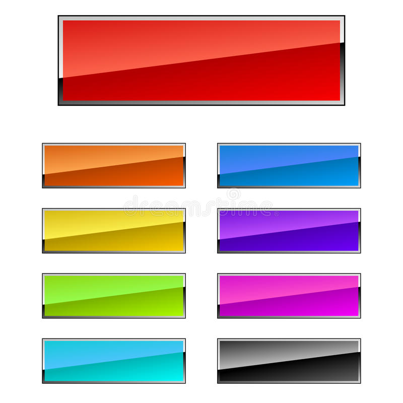 Download Rectangular buttons stock vector. Image of interface - 13471438