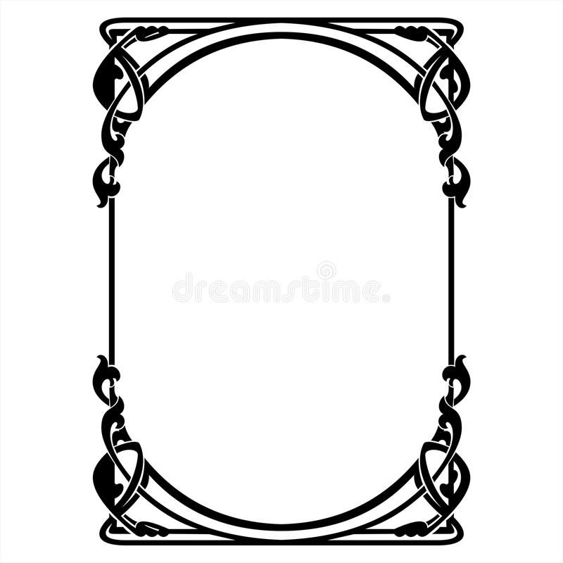 rectangular decorative frame with art nouveau ornament stock vector rh dreamstime com art nouveau victor horta brussels art nouveau vector frame