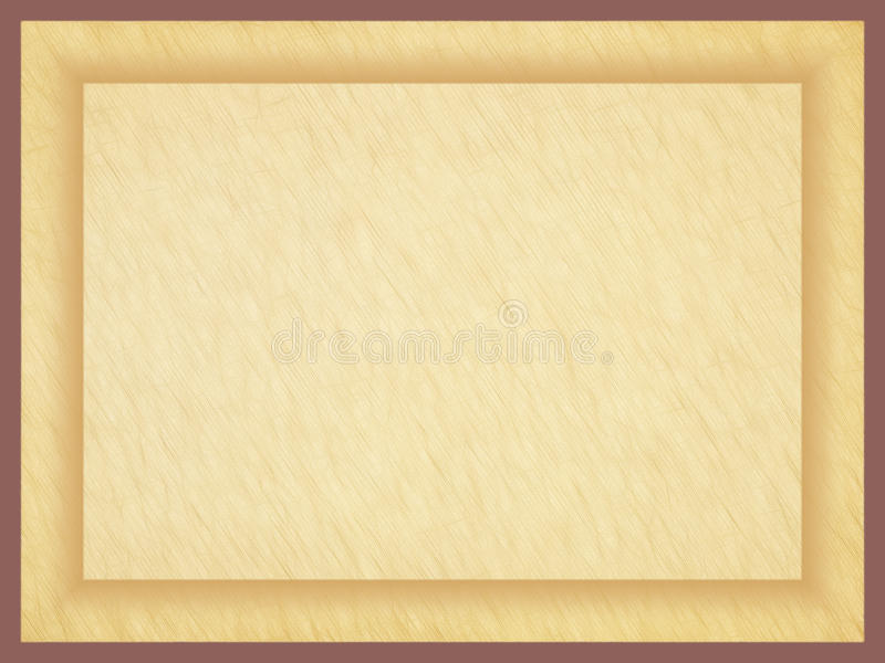 Rectangular Empty Old Papyrus Photo Frame. Stock Illustration ...