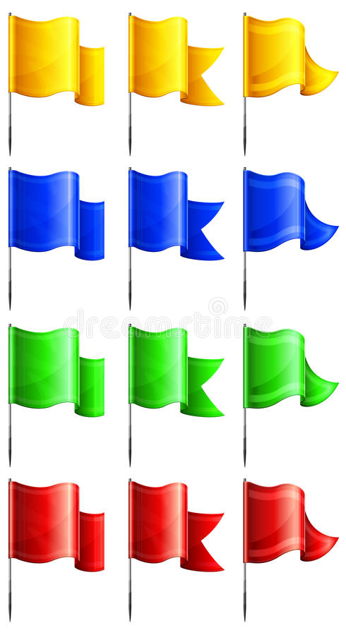 Download Rectangular flags stock vector. Illustration of waving - 24728401
