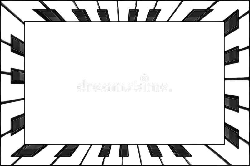 Rectangular frame piano keyboard keys black and white. Classical piano keyboard frame abstract background. In?redible piano key bo. Rectangular frame piano royalty free illustration