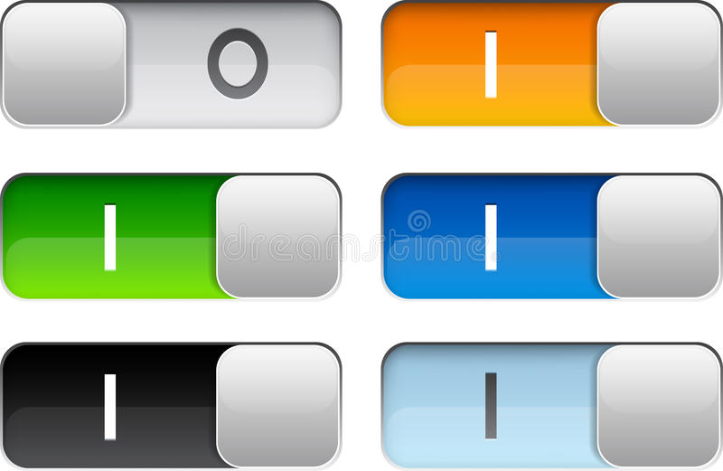 Download Rectangular glossy relays. stock vector. Image of bright - 26040710