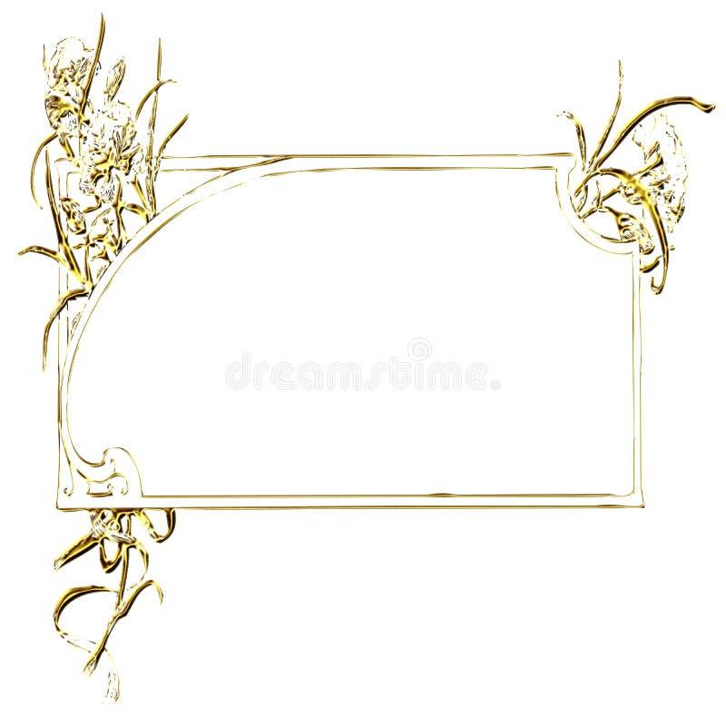 Download Rectangular Gold Frame Ornament Stock Illustration - Image: 7086895