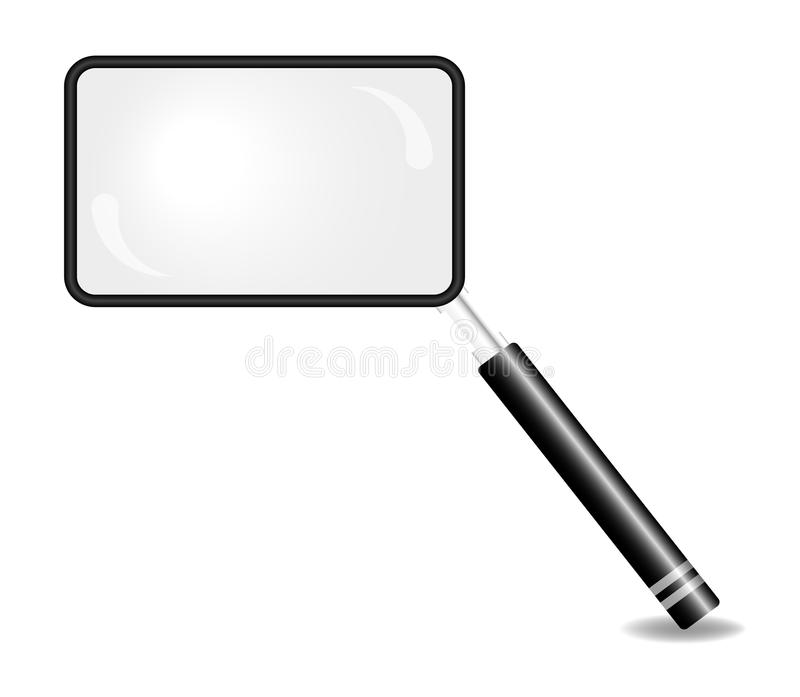 Download Rectangular Magnifying Glass Stock Vector - Illustration of business, icon: 21692439