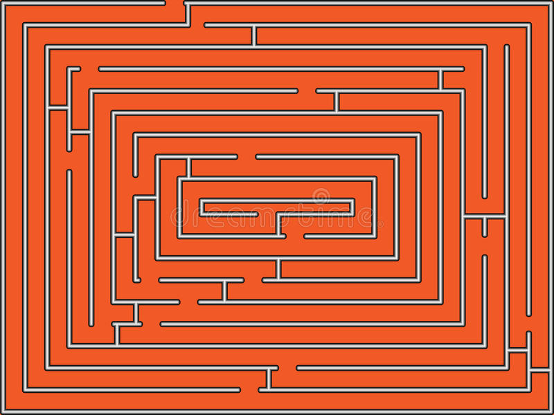 Download Rectangular maze stock vector. Image of rectangular, abstract - 16738940