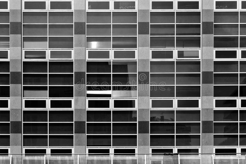Rectangular Pattern made from Office Windows royalty free stock photography