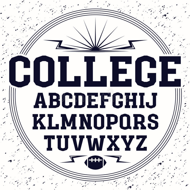 Rectangular serif font in the style of college stock vector download rectangular serif font in the style of college stock vector illustration of design altavistaventures Images