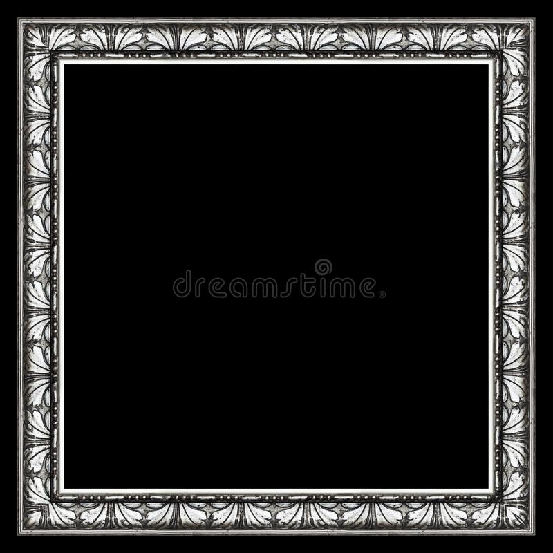 Dark Silver Elegant Picture Frame royalty free stock photo